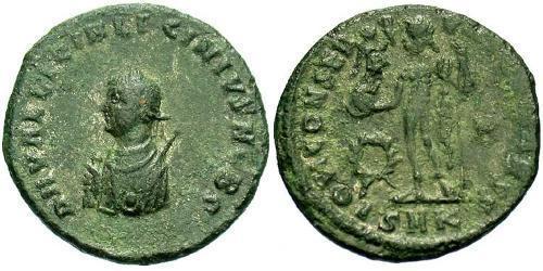 1 Follis /  AE3 Empire romain (27BC-395) Bronze Licinius II (315-326)
