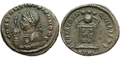 1 Follis /  AE3 Empire romain (27BC-395) Bronze Constance II (317 - 361)