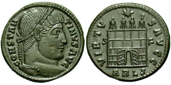 1 Follis /  AE3 Empire romain (27BC-395) Bronze Constantin I (272 - 337)