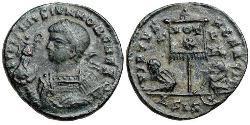 1 Follis /  AE3 Römische Kaiserzeit (27BC-395) Bronze Licinius II (315-326)