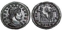 1 Follis /  AE3 Roman Empire (27BC-395) Bronze Dalmatius (?-337)