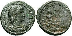 1 Follis /  AE3 Roman Empire (27BC-395) Bronze Hannibalianus (?-337)