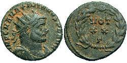 1 Follis /  AE3 Roman Empire (27BC-395) Bronze Maximianus (250-310)