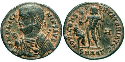 1 Follis /  AE3 Roman Empire (27BC-395) Bronze Licinius I (265-324)