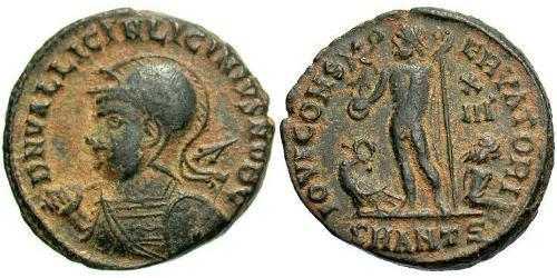 1 Follis /  AE3 Roman Empire (27BC-395) Bronze Licinius II (315-326)
