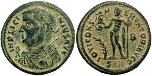 1 Follis /  AE3 Roman Empire (27BC-395) Bronze Licinius I (265-324)