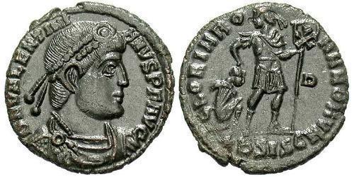 1 Follis /  AE3 Roman Empire (27BC-395) Bronze Valentinian I  (321-375)
