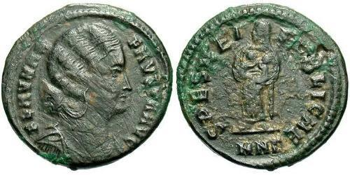 1 Follis /  AE3 Roman Empire (27BC-395) Bronze Fausta (289-326)