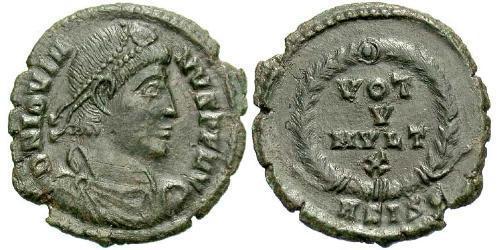 1 Follis /  AE3 Roman Empire (27BC-395) Bronze Jovian (331- 364)