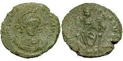 1 Follis /  AE3 Western Roman Empire (285-476) Bronze Honorius  (384-423)