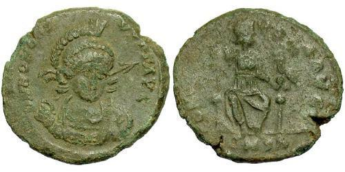 1 Follis /  AE3 Western Roman Empire (285-476) Bronze Honorius  (384-423)