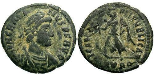 1 Follis /  AE3 Western Roman Empire (285-476) Bronze Gratian (359-383)