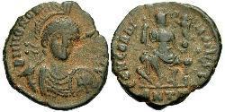 1 Follis /  AE3 Weströmisches Reich (285-476) Bronze Honorius (384-423)