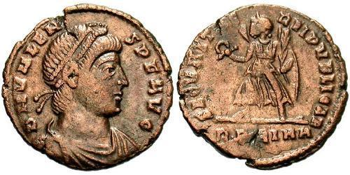 1 Follis /  AE3 Impero bizantino (330-1453) Bronzo Valente (328-378)
