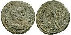 1 Follis /  AE3 Roman Empire (27BC-395) Silver Gordian III (225-244)