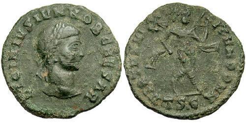 1 Follis /  AE3 Roman Empire (27BC-395) Silver Licinius II (315-326)