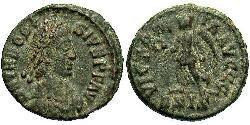 1 Follis /  AE4 Western Roman Empire (285-476) 青铜 Theodosius I (347-395)
