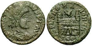 1 Follis /  AE4 Western Roman Empire (285-476) 青铜 Magnus Maximus (335-388)