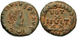 1 Follis /  AE4 Byzantine Empire (330-1453) Bronze Arcadius (377-408)