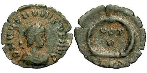 1 Follis /  AE4 Byzantine Empire (330-1453) Bronze Arcadius (377-408)