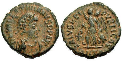 1 Follis /  AE4 Römische Kaiserzeit (27BC-395) Bronze Valentinian II (371-392)
