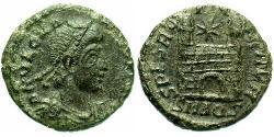 1 Follis /  AE4 Roman Empire (27BC-395) Bronze Magnus Maximus (335-388)