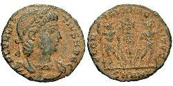 1 Follis /  AE4 Roman Empire (27BC-395) Bronze Dalmatius (?-337)