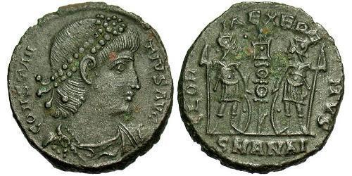1 Follis /  AE4 Roman Empire (27BC-395) Bronze Constantius II (317 - 361)