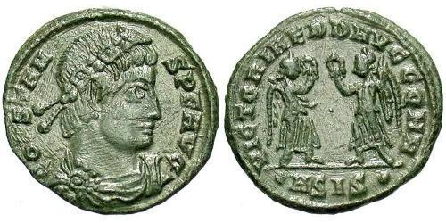 1 Follis /  AE4 Roman Empire (27BC-395) Bronze Constans I (320-350)