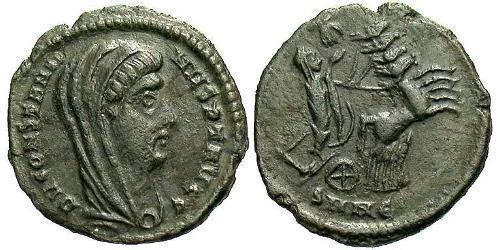 1 Follis /  AE4 Roman Empire (27BC-395) Bronze Constantine I (272 - 337)