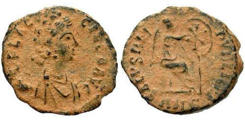 1 Follis /  AE4 Roman Empire (27BC-395) Bronze Aelia Flaccilla (?-385)