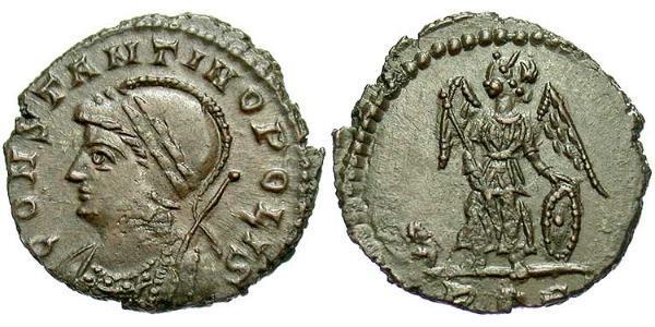 1 Follis /  AE4 Roman Empire (27BC-395) Bronze