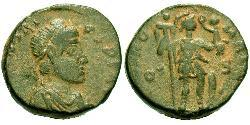 1 Follis /  AE4 Western Roman Empire (285-476) Bronze Honorius  (384-423)