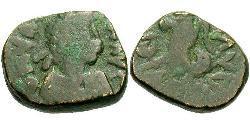 1 Follis /  AE4 Western Roman Empire (285-476) Bronze Valentinian III (419-455)