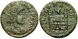 1 Follis /  AE4 Weströmisches Reich (285-476) Bronze Magnus Maximus (335-388)