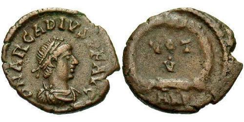 1 Follis /  AE4 Impero bizantino (330-1453) Bronzo Arcadio  (377-408)