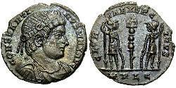 1 Follis /  AE4 Impero romano (27BC-395) Bronzo Costantino I (272 - 337)