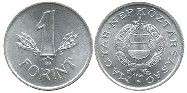 1 Forint República Popular de Hungría (1949 - 1989) Aluminio/Plata