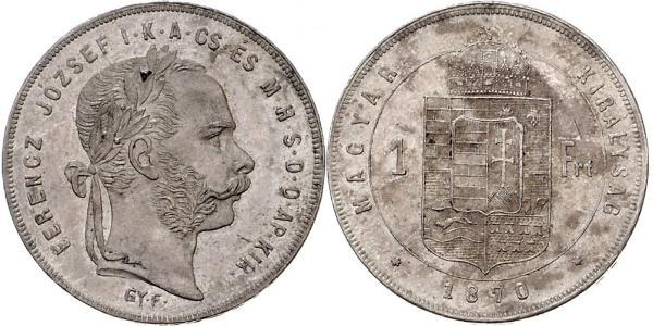 1 Forint Impero austro-ungarico (1867-1918) Argento Franz Joseph I (1830 - 1916)