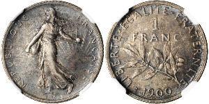1 Franc 法国 銀/銅/镍