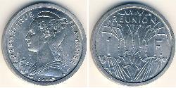 1 Franc Reunion Aluminium