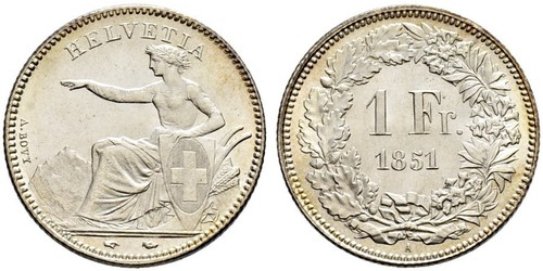 1 Franc Suisse Argent