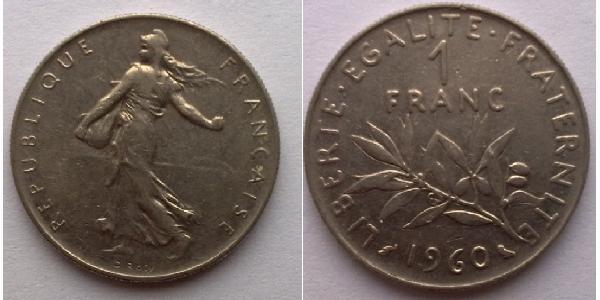 1 Franc France Argent/Cuivre/Nickel