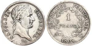1 Franc Primo Impero francese (1804-1814) Argento