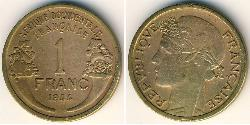1 Franc French West Africa (1895-1958) Bronze