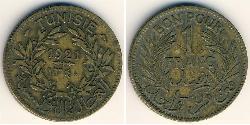 1 Franc Tunisia Bronze