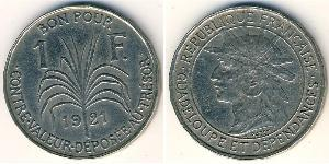 1 Franc Guadeloupe Copper/Nickel