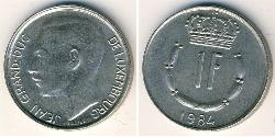 1 Franc Luxembourg Copper/Nickel