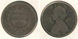 1 Franc Martinique Copper/Nickel