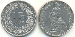 1 Franc Switzerland Copper/Nickel